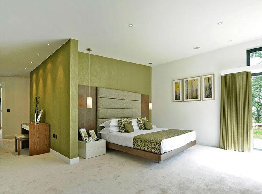 Idee per una camera da letto verde oliva n.3
