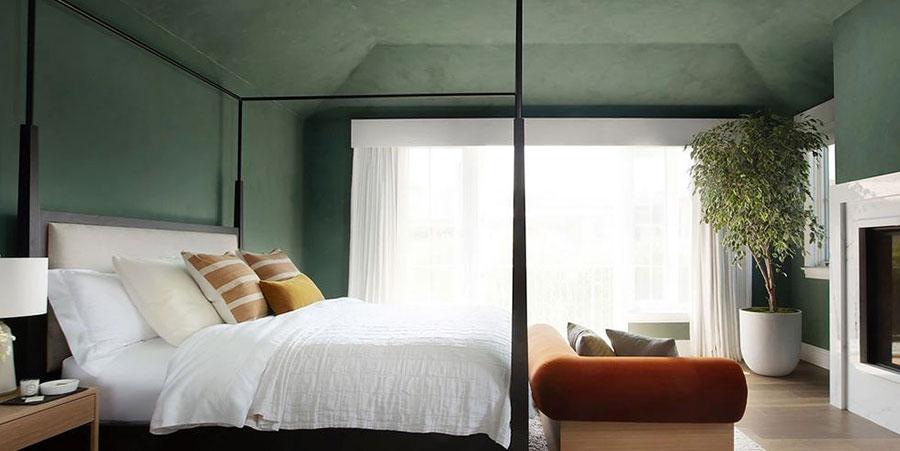 Idee per una camera da letto verde scuro n.2