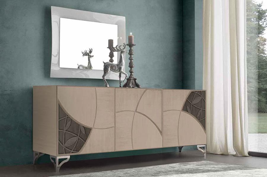 Colore avio per pareti di un soggiorno classico n.01