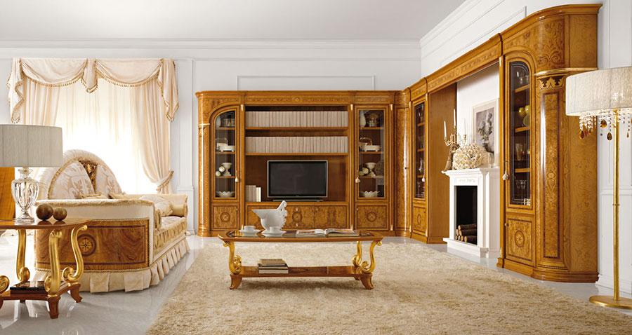 Colore bianco per pareti di un soggiorno classico n.02