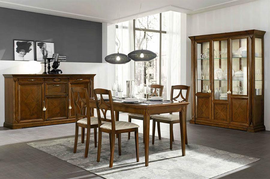 Pareti grigie e bianche per soggiorno classico