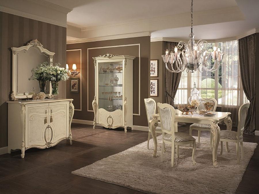 Colore marrone per pareti di un soggiorno classico n.02