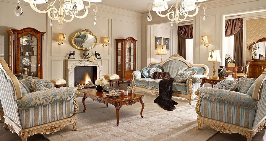 Colore tortora per pareti di un soggiorno classico n.01