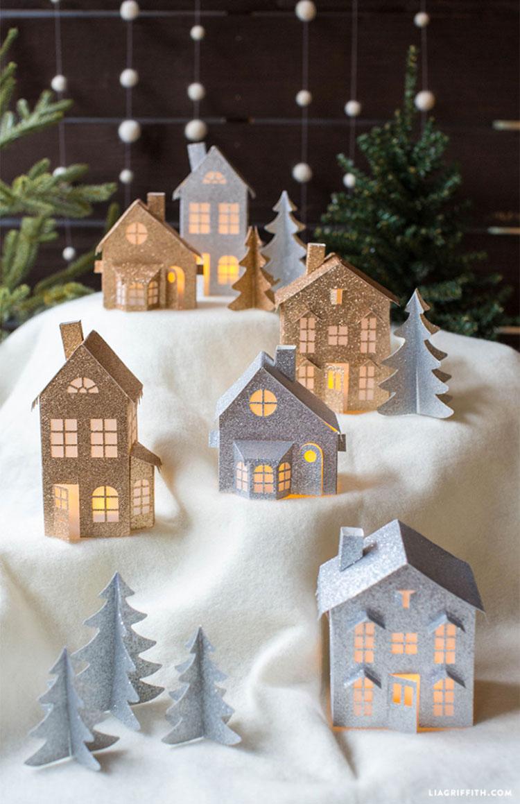 Idee per decorazioni natalizie con la carta n.01