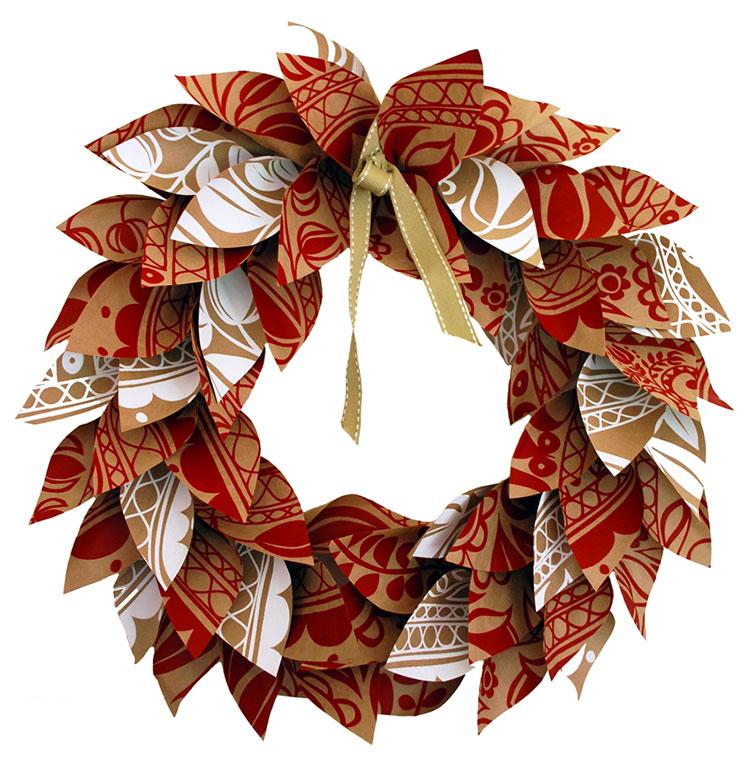 Idee per decorazioni natalizie con la carta n.03