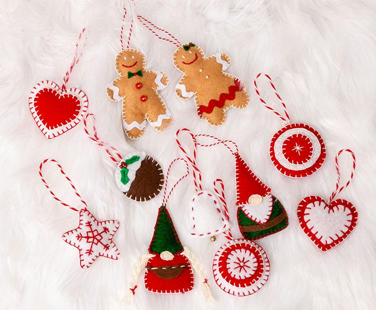 Idee per decorazioni natalizie in feltro n.01