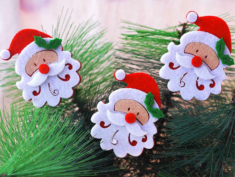 Idee per decorazioni natalizie in feltro n.02