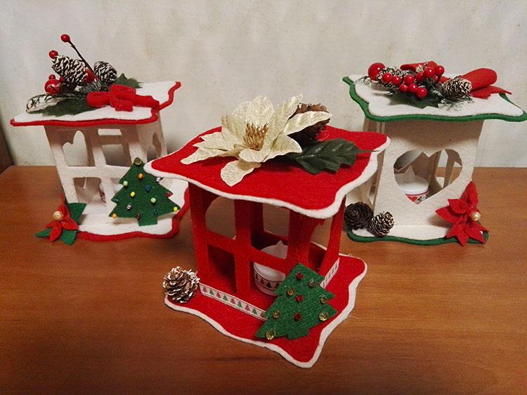 Idee per decorazioni natalizie in feltro n.03