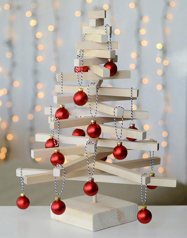 Idee per decorazioni natalizie in legno n.01