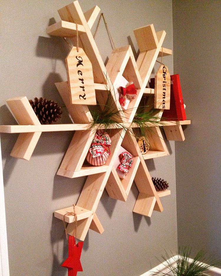 Idee per decorazioni natalizie in legno n.02