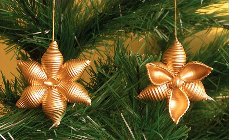 Idee per decorazioni natalizie con la pasta n.02