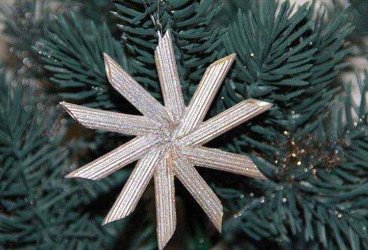 Idee per decorazioni natalizie con la pasta n.03