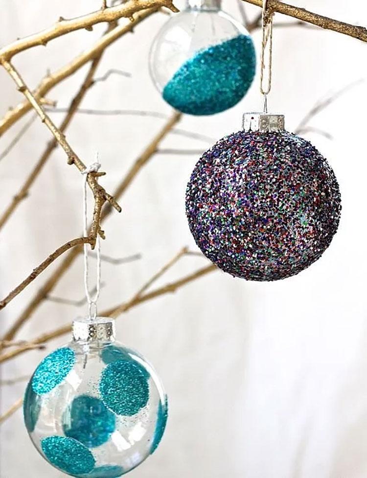 Palline per decorazioni natalizie fai da te n.01