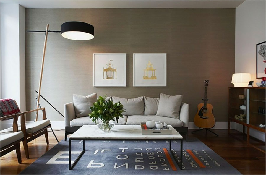 Idee per pareti del soggiorno colore tortora n.02