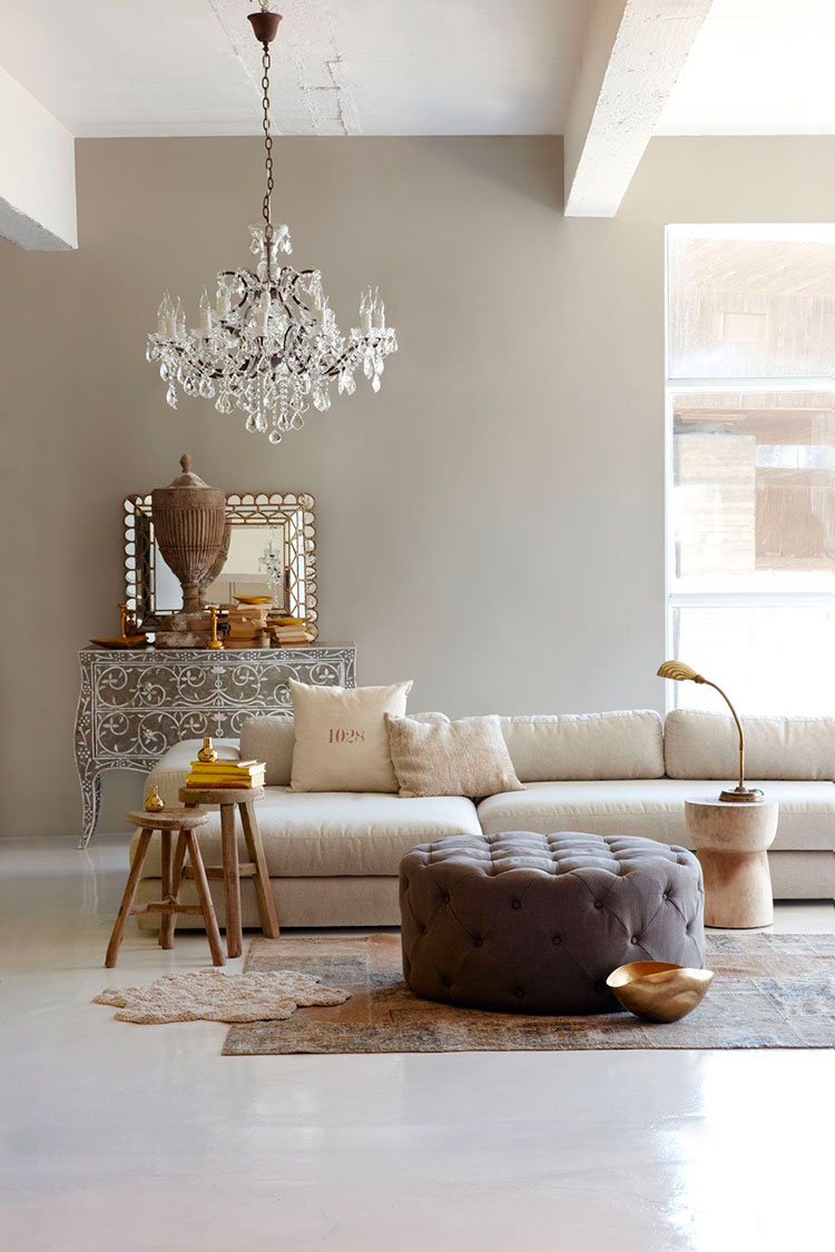 Idee per pareti del soggiorno colore tortora n.03