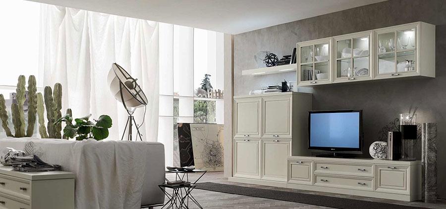 Pareti a stucco per soggiorno classico n.03