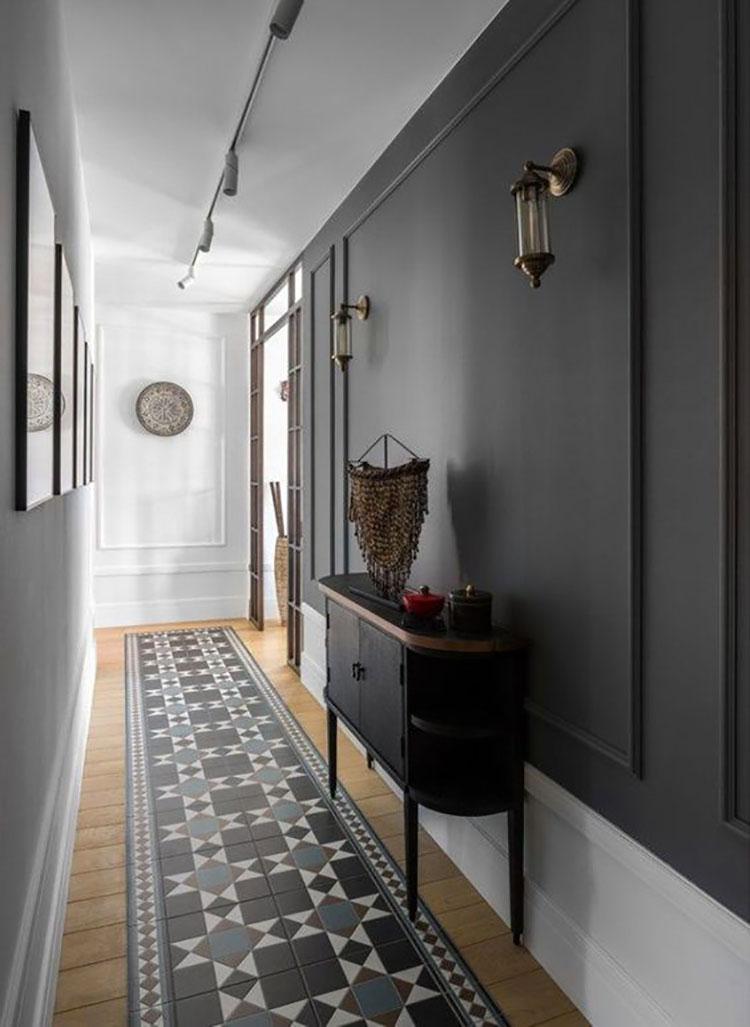Idee per il pavimento di un corridoio stretto e corto n.03
