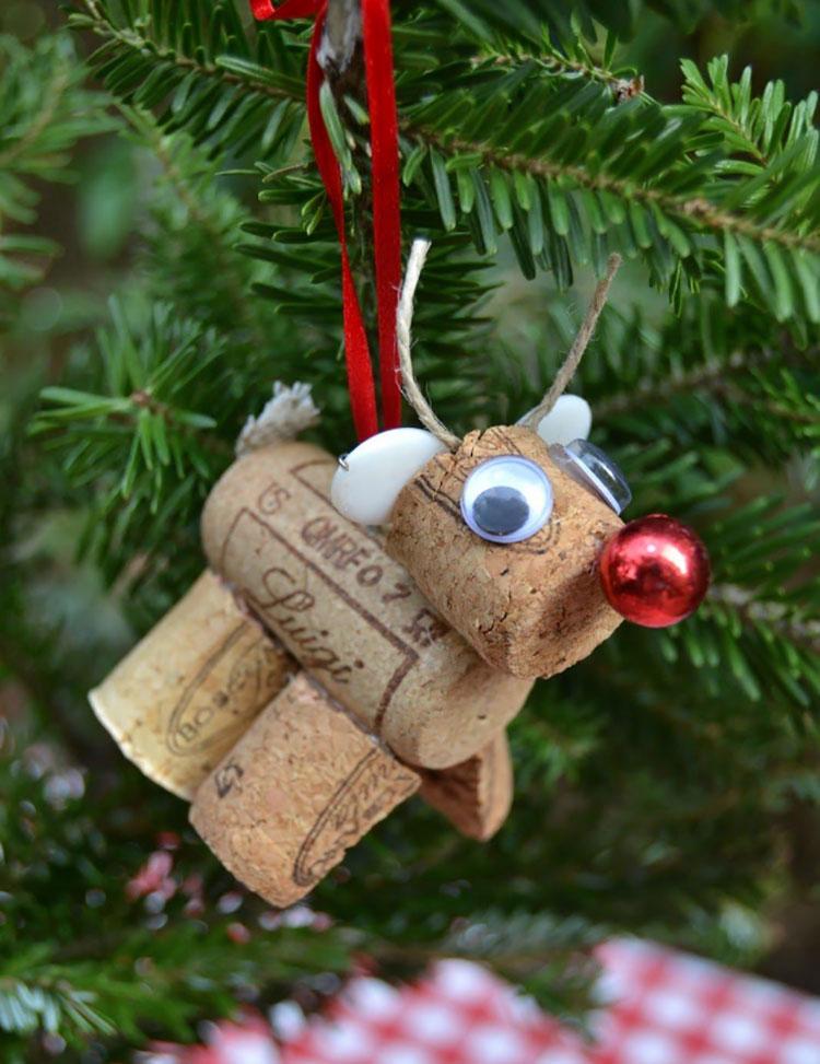 Renna per decorazioni natalizie fai da te