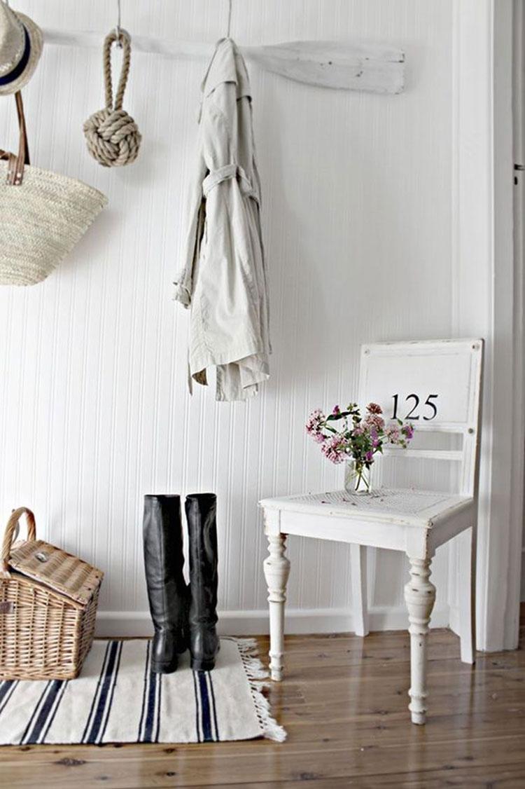Modello di sedia per ingresso shabby chic n.02