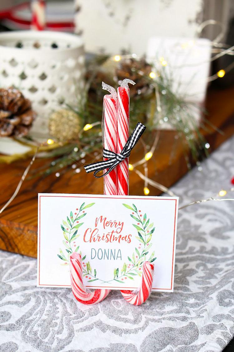 Idee per segnaposto natalizi fai da te n.03