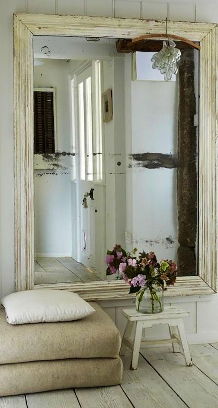 Modello di specchio per ingresso shabby chic n.01
