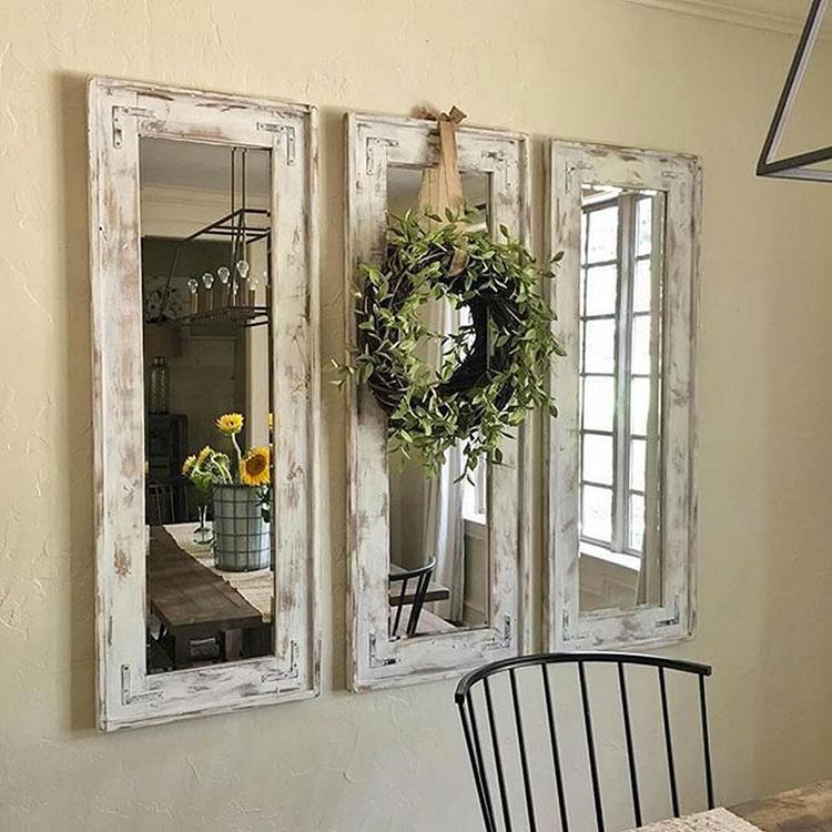Modello di specchio per ingresso shabby chic n.03