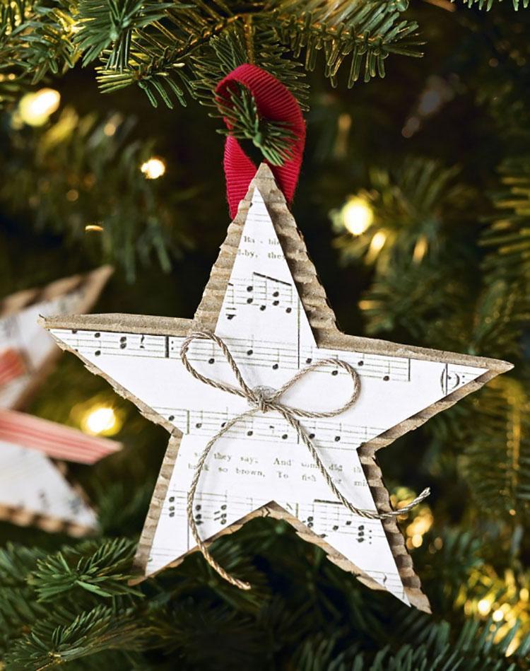 Stella per decorazioni natalizie fai da te