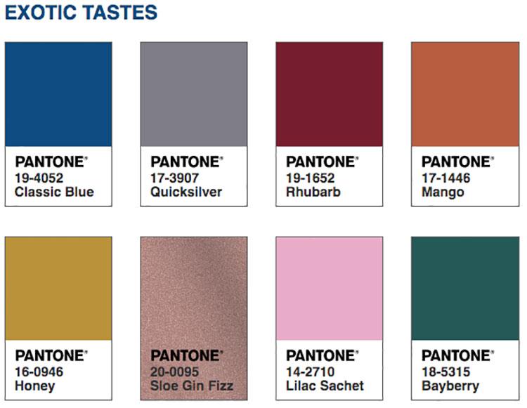 Abbinamenti colore Classic Blue Exotic Tastes