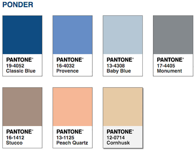 Abbinamenti colore Classic Blue Ponder