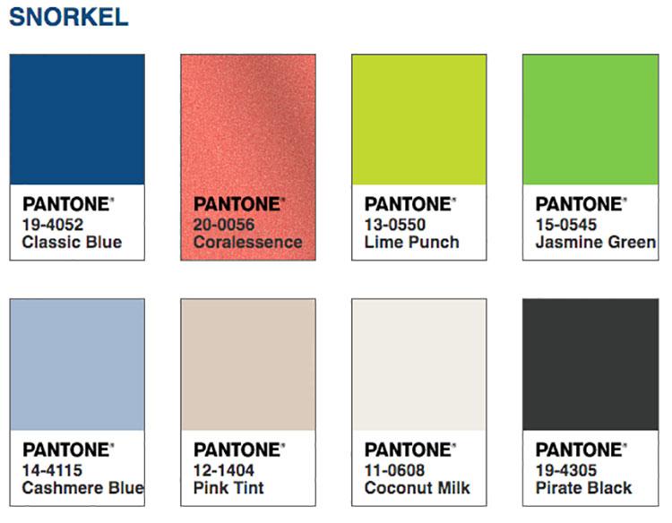 Abbinamenti colore Classic Blue Snorkle