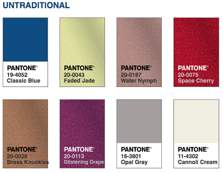 Abbinamenti colore Classic Blue Untraditional
