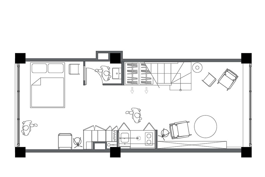 Idee per arredare un monolocale di 35 mq n.29