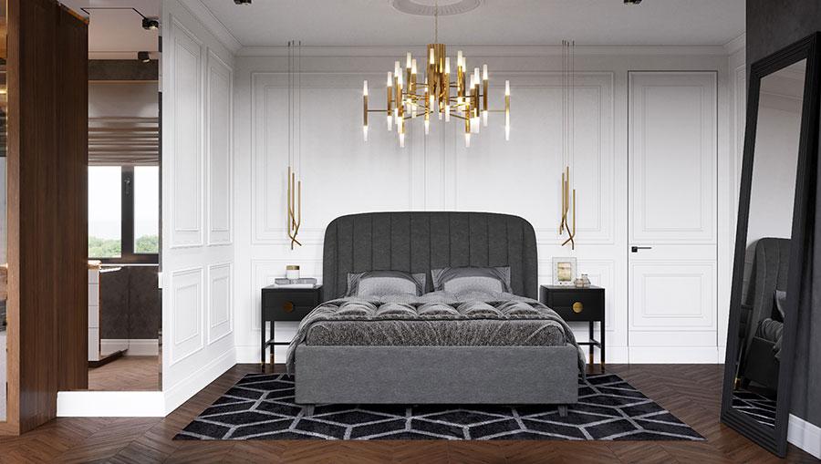 Idee per boiserie per camera da letto classica n.06