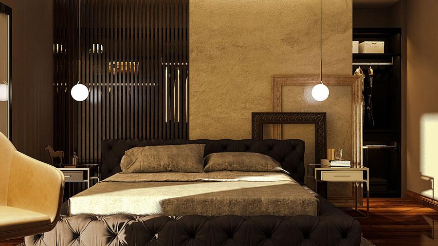Idee per boiserie per camera da letto classica moderna n.01