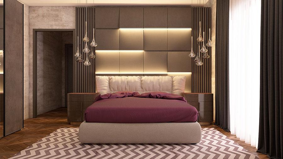 Idee per boiserie per camera da letto classica moderna n.02