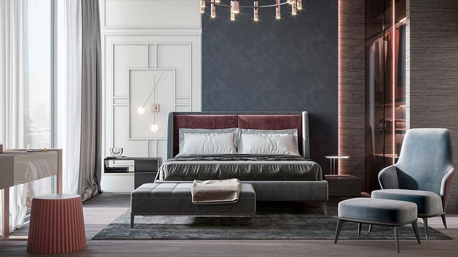 Idee per boiserie per camera da letto classica moderna n.03