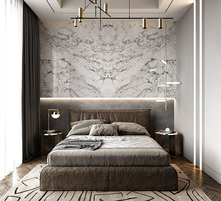 Idee per boiserie per camera da letto classica moderna n.05