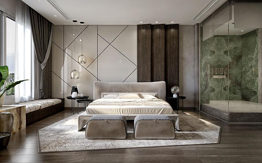 Idee per boiserie per camera da letto classica moderna n.06