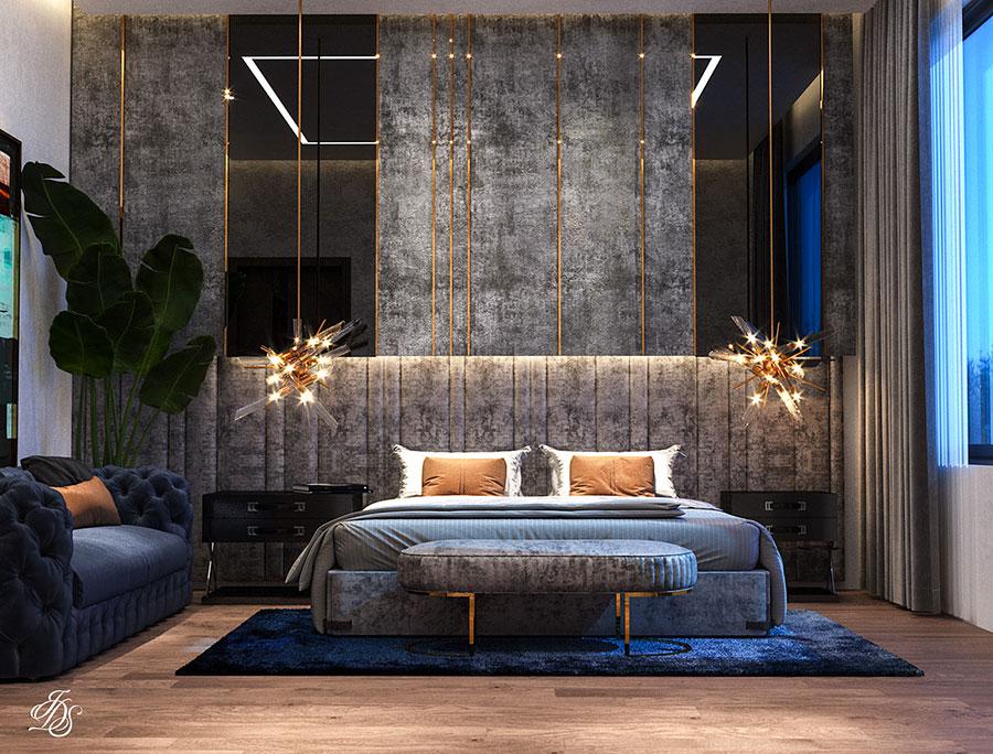 Idee per boiserie per camera da letto classica moderna n.08