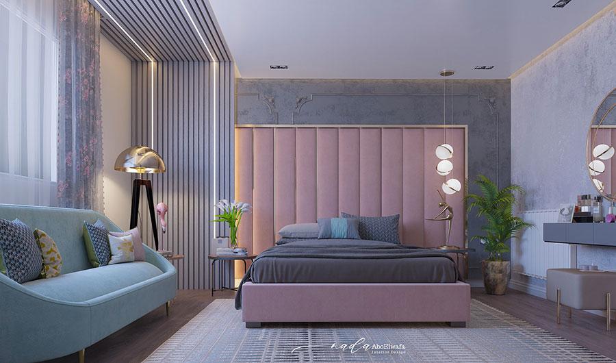 Idee per boiserie per camera da letto classica moderna n.09