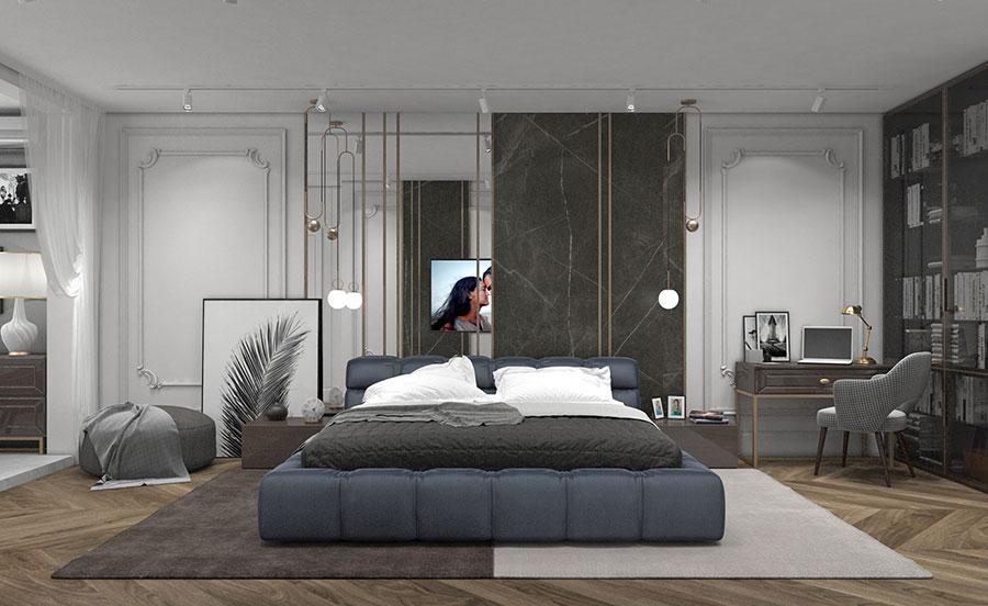 Idee per boiserie per camera da letto classica moderna n.10