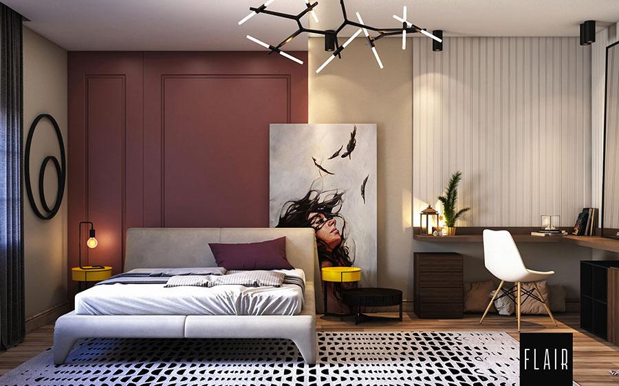 Idee per boiserie per camera da letto moderna n.01