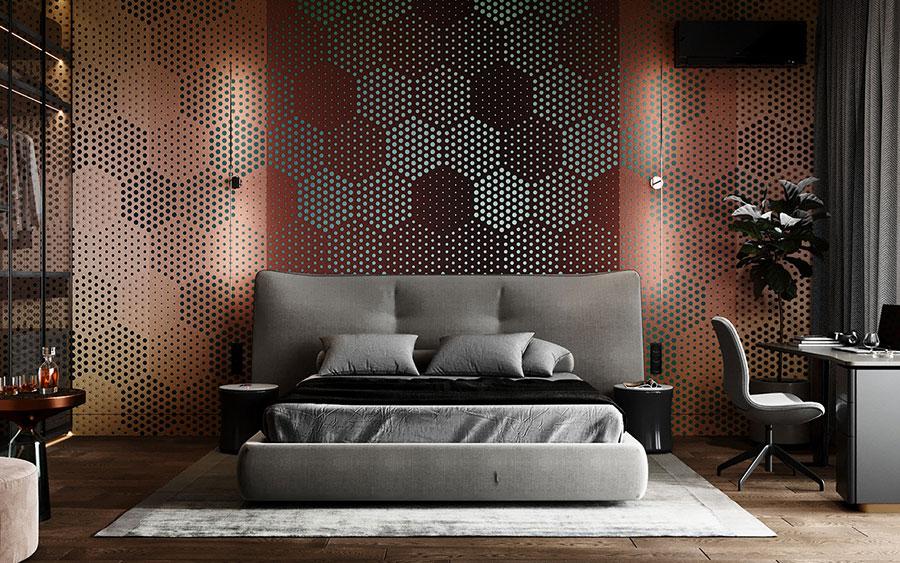 Idee per boiserie per camera da letto moderna n.02