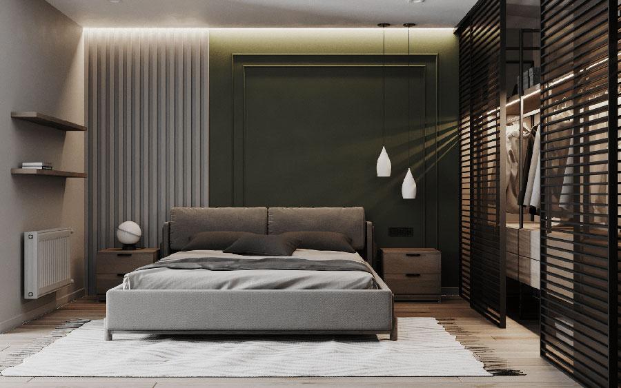 Idee per boiserie per camera da letto moderna n.05