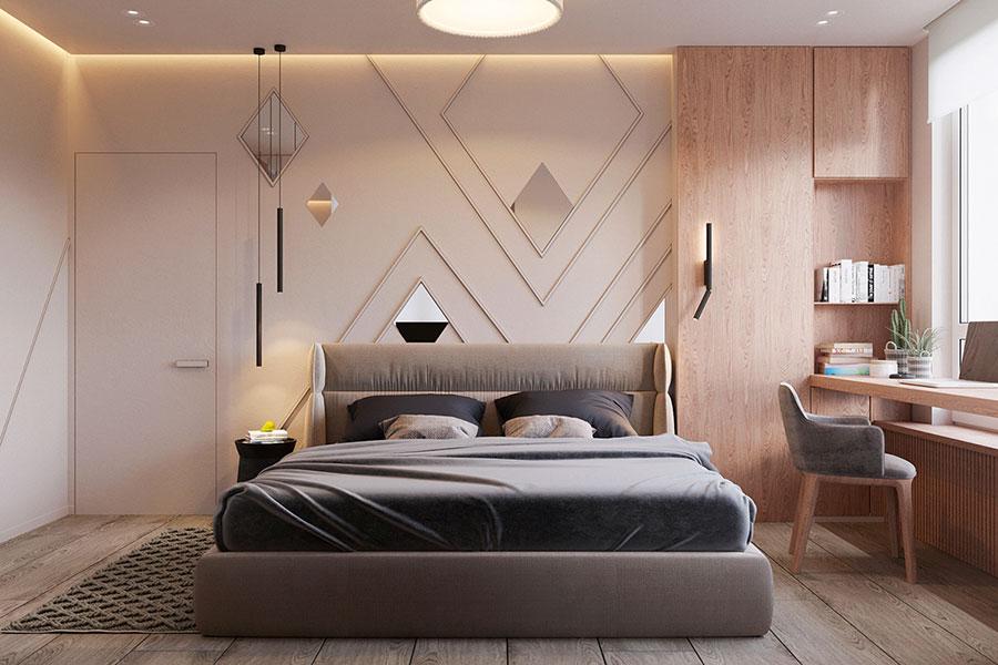 Idee per boiserie per camera da letto moderna n.06
