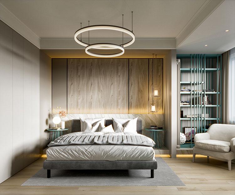 Idee per boiserie per camera da letto moderna n.07