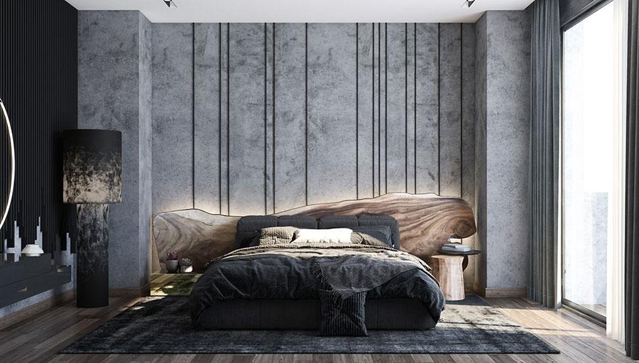 Idee per boiserie per camera da letto moderna n.10