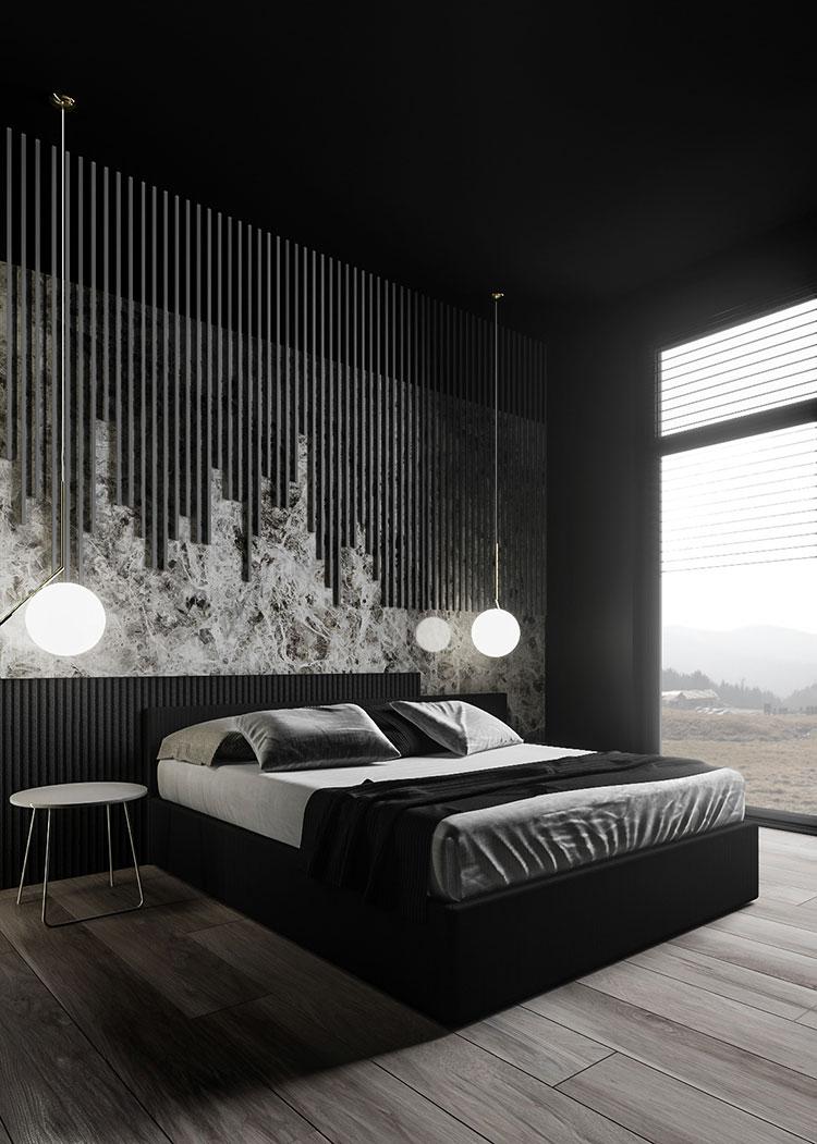 Idee per boiserie per camera da letto moderna n.12