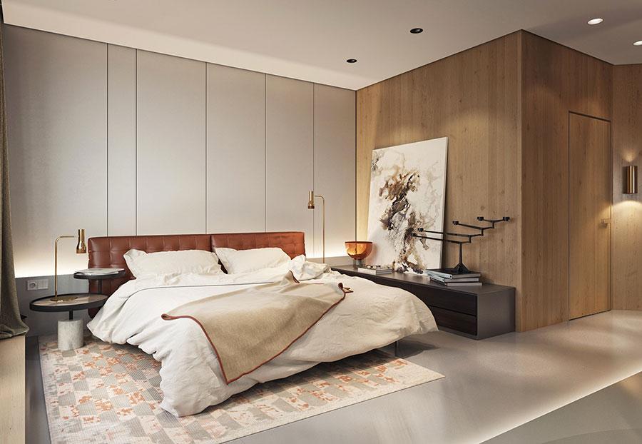 Idee per boiserie per camera da letto moderna n.13