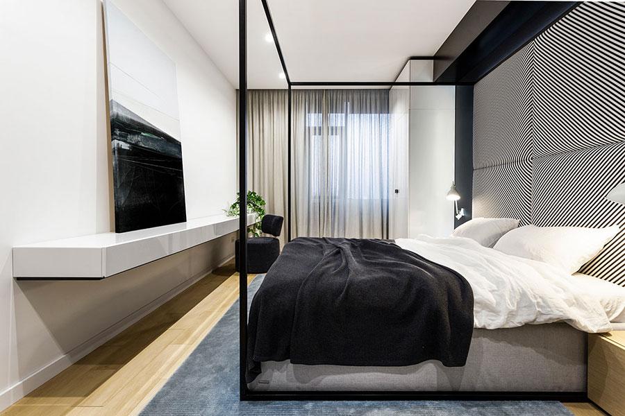 Idee per boiserie per camera da letto moderna n.18